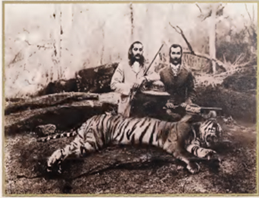 Nizam Mahboob Ali Khan shown hunting